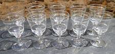 10 verres cristal anciens fin XIX début XXe vins fins Baccarat