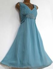 MONSOON ✩ STUNNING BALA AQUA SEAFOAM SILK COCKTAIL BRIDESMAID DRESS ✩ UK 16