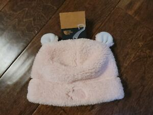 New Baby THE NORTH FACE Purdy Pink Baby Bear Beanie Size S