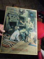 Publicité Tôle Fusil de Chasse Remington au Chasseur & son Chien +-2000