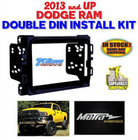 METRA 95-6518B + GEN 2013 + UP  DODGE RAM DOUBLE DIN INSTALL KIT  + PERFECT FIT