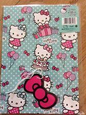 Hello Kitty Cumpleaños Envoltorio De Papel (2 Hojas & 2 etiquetas)