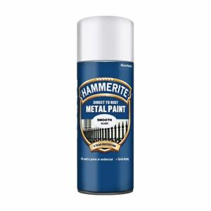 Hammerite Direct To Rust Aerosol Quick Drying Metal Spray Paint - 400ml