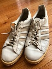 adidas 70's Vintage Sneakers Shoes White Made in France outsole 11.5 inches