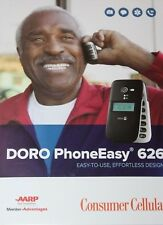 Consumer Cellular DORO PhoneEasy 626  Cellular Flip Phone - Black
