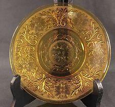 "Indiana Glass Amber Tiara  Plate 5 3/4"" Diameter VGC"