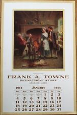Ludlow, MA 1914 Advertising Calendar/Poster: Frank A. Towne Department Store