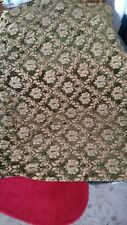 Vintage brocade cut velvet chenille patterned curtain material