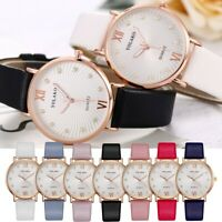 Women Crystal Leather Strap Analog Quartz Ladies Wrist Watches Fashion Watch UK