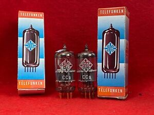 2x  new tested CCa Telefunken <> ( E88CC / 6922 ) with same code