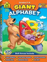 School Zone - Giant Alphabet Workbook - Ages 3 to 5, PreK and KG, ABC, Writing