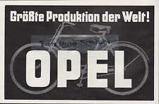 RÜSSELSHEIM, Werbung 1928, Automobil-Fabrik Adam Opel AG Fahrrad-Produktion