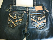 Women's/Juniors Amethyst Jeans Distressed Destroyed Flap Pockets Flare Size 9