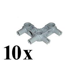 LEGO Technic 10 pcs GREY 4-PIN CONNECTOR PERPENDICULAR 3x3 BENT 55615 education