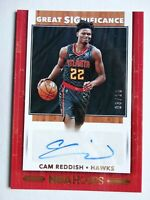 2019-20 Hoops Cam Reddish Hawks Great Significance Auto Gold SSP Card 3/10