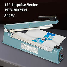 "12"" Impulse Manual Hand Sealer Heat Sealing Machine Poly Tubing Plastic Bag OHUB"