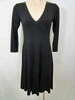 Mela Purdie Size 8/XS Black A-Line Stretchy Dress