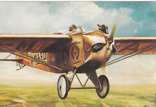 Postcard Malev Airlines Arpad Lampich's touring plane Roma 1930 Airplane