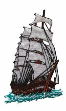 """#3373 2 1/2""""x4"""" Sailing Boat at sea,Vessel Embroidery Iron On Applique Patch"""