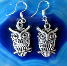 Ohrhänger Ohrring Eule 17 Haken aus Silber 925 dangle earring owl