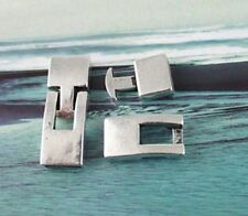 10PairsTibetan silver Hook Clasp for10x3mm Leather Cord #F11313