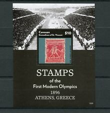 Canouan Grenadines St Vincent 2015 MNH Stamps First Modern Olympics Athens 1v SS