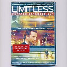 Limitless mystery thriller movie, new DVD Bradley Cooper, Abbie Cornish, De Niro