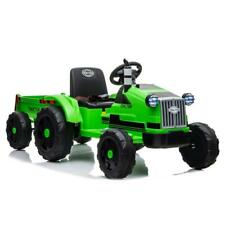 12V Kids Ride On Tractor Car Toys Mp3 2 Speed with Large Trailer 2 in 1 Remote