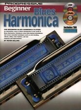 PROGRESSIVE BEGINNER BLUES HARMONICA + CD & DVD*