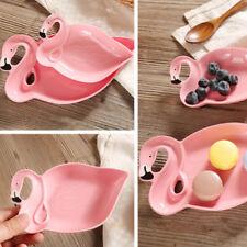 2pcs Pink Ceramic Dishes Plates Flamingo Tray Snack Dessert Plate Dinnerware