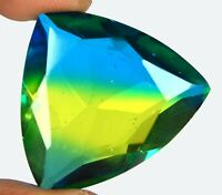 Trillion Cut 61.40 Ct Multi Color Tourmaline 30 x 30 mm Gemstone Certified N6467
