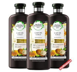 Herbal Essences PURE Coconut Milk Hydrate Lait de Coco Conditioner 400ml -3 Pack