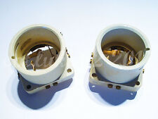 2x Original Vintage 1940s Ceramic Sockets for Telefunken RS237, Ultra Rare!