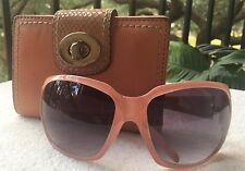 COACH WOMEN'S PINK SUNGLASSES  AND COACH WOMEN'S SALMON COLORED WALLET