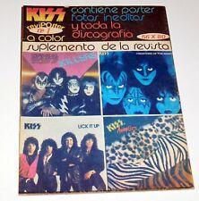 KISS Band Poster Revi Poster Foldout Magazine #1 Argentina 1984