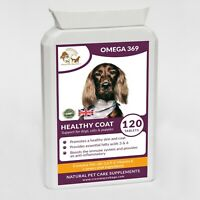 Omega 3,6 & 9 + Vitamin E High Strength Formulated for Dogs & Cats (120 Gels)