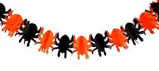 Halloween  spooky black and orange spider paper chain garland bunting decoration
