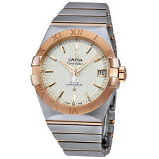 Omega Constellation Co-axial Silver Lozenge Automatic Mens Watch