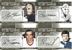 2009-10 IN THE GAME BETWEEN THE PIPES ROGIE VACHON AUTOGRAPH