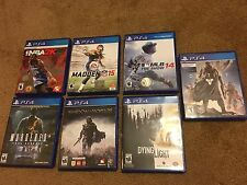 Lot of 7 PS4 Games Dying Light Shadow Of Mordor Madden Destiny MLB The Show NBA