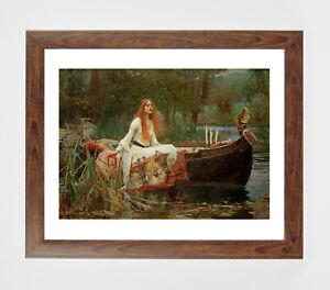 Framed print - Waterhouse - Lady of Shalott boat art print in polcore frame