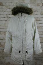 Schott Parka clima frío extremo N3-B Blanco Abrigo Talla S Vintage