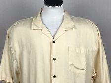 Hilo Hattie The Hawaiian Original 2XL Yellow Hawaiian Aloha Shirt Pineapple USA