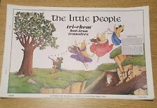 THE LITTLE PEOPLE Vintage Tri-Chem Hot Iron Transfer Patterns Book 10 Pages C22