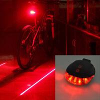 Cycling Bicycle Bike Laser Light Beam Lane Rear Back Tail LED Caution Safe Lamp