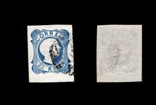 1855 Portugal D. Pedro V 25 reis. #7 USED stamp. Good Margins.