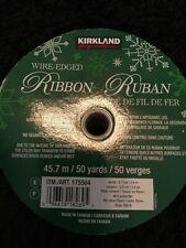 New Kirkland Signature Wired Edged Ribbon Ruban 47.5m/50 Yards/50 Verges