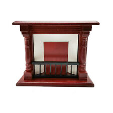Dollhouse Miniature 1:12 Scale Wooden Fireplace Furniture Room Decor