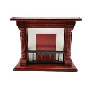 Dollhouse Miniature 1:12 Scale Wooden Fireplace Furniture Room Decor