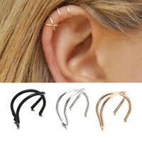 1Pcs Girls Wrap No Piercing Earrings Cuff Cartilage Ear Stud Clip On Earring